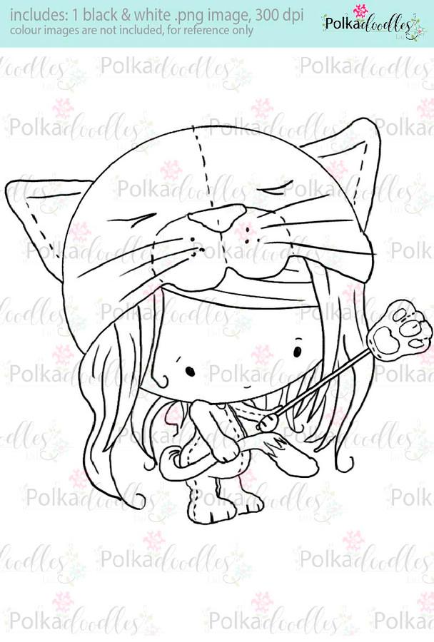 Lil Miss Kittycat - Sugarpops Kit 1...Craft printable download digital stamps/digi scrap kit