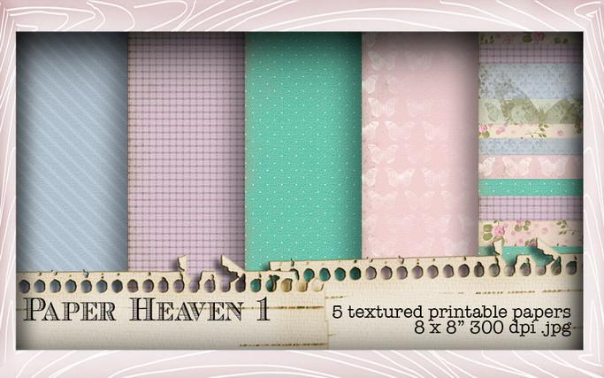 5 Printable Papers - Lil Miss Sugarpops Kit 2...Craft printable download digital stamps/digi scrap kit