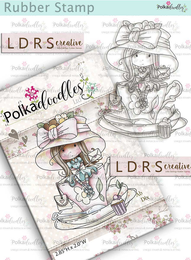 Winnie Time for Tea Rubber Stamp - A Teacup Full of Wishes by LDRS