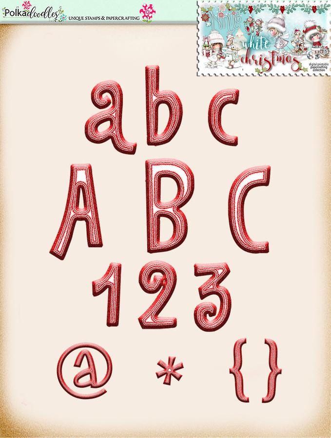 Winnie White Christmas...Craft printable download digital stamps/digi scrap
