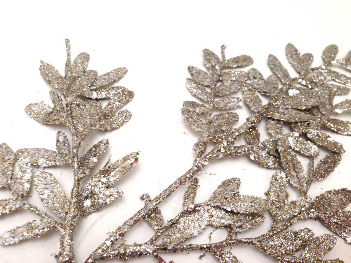 Beautiful Glittered Large branch spray -  Embellishment