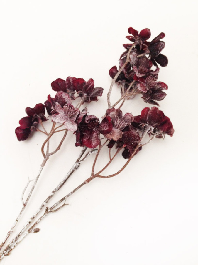 Dark Purple Glittery Flower stems -  Embellishments