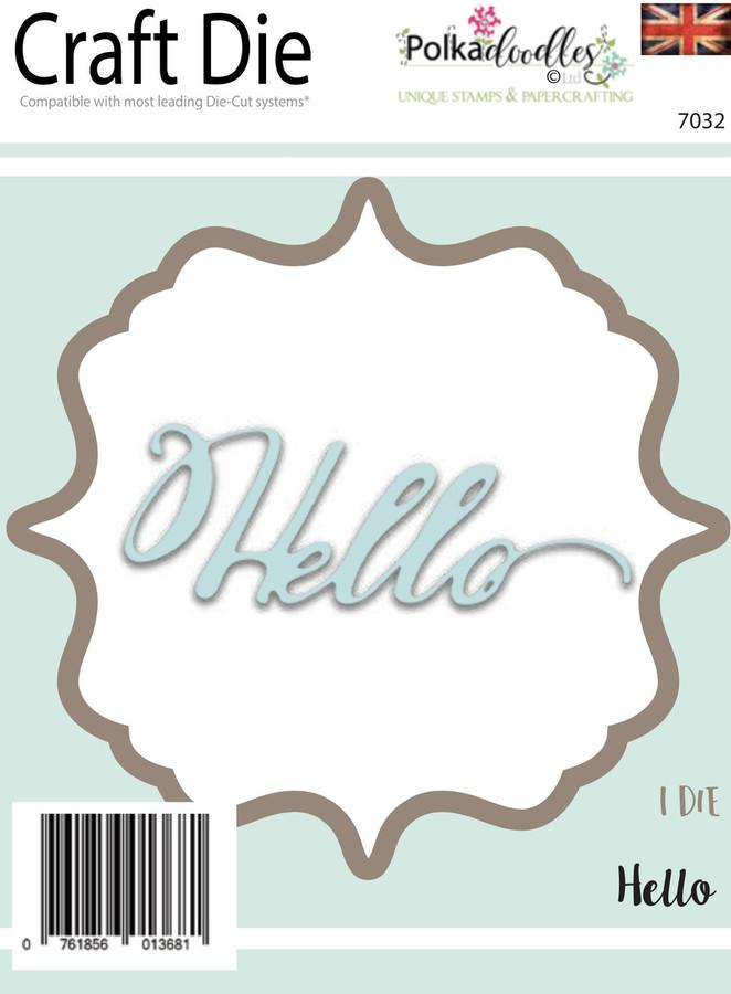 Hello Sentiment -  Craft Cutting die set
