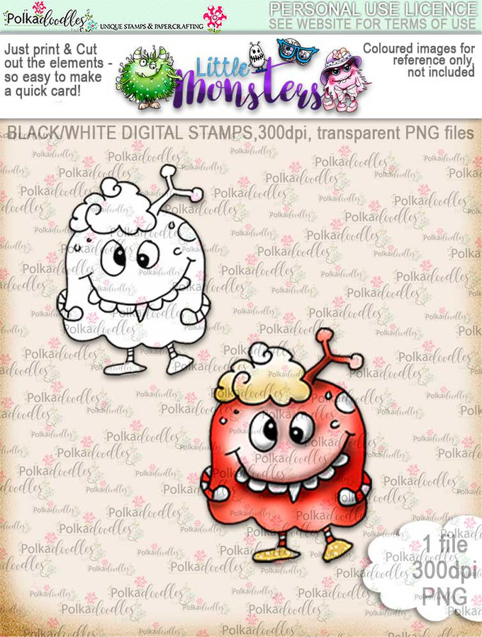 Little Monsters Dohh digi stamp download