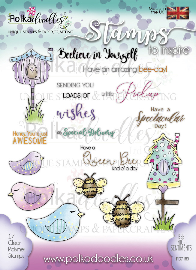 Bee Nice - 17 Clear Stamps