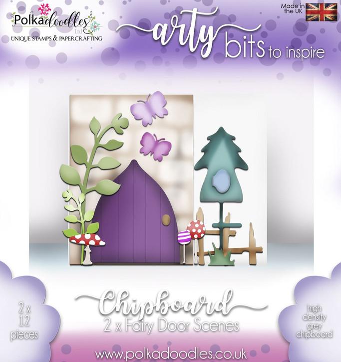 Chipboard Fairy Door kit - 24 pieces