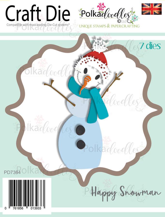 Happy Festive Snowman - Christmas Craft cutting die