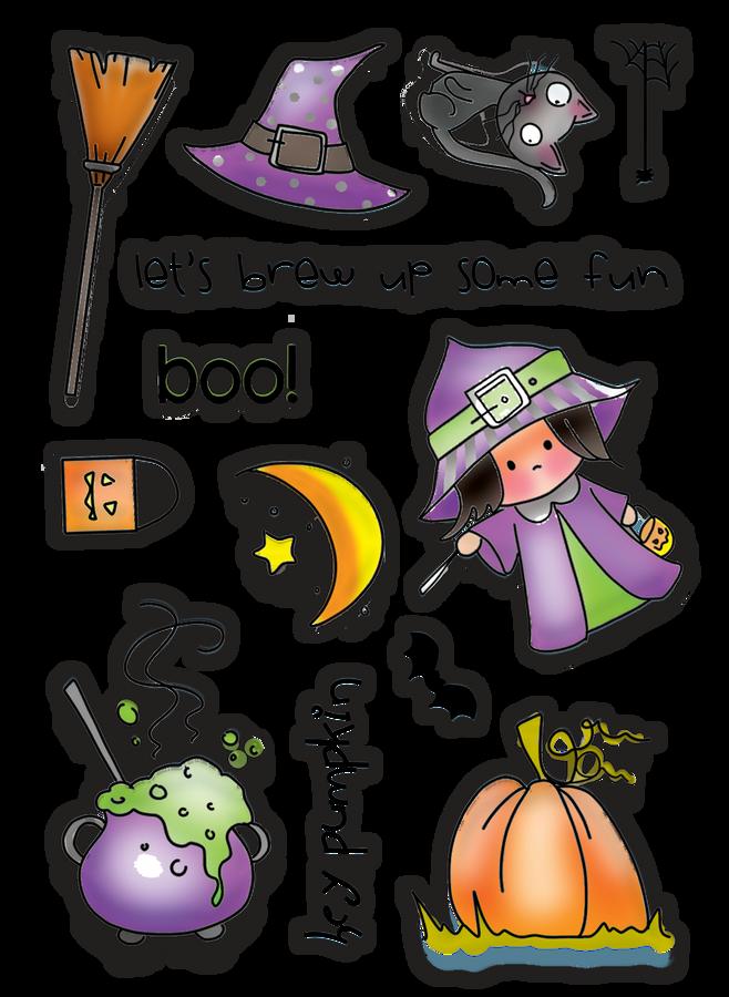 Hey Pumpkin - Halloween clear stamp set