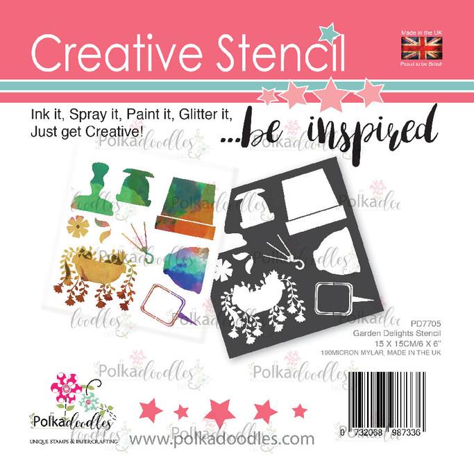 Garden Delights creative craft stencil