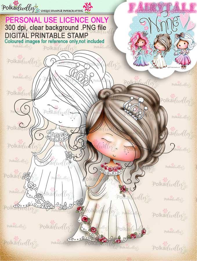 Winnie Fairytale Dreamer digi stamp download