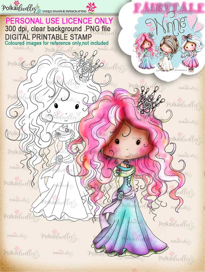 Winnie Fairytale digi stamp download