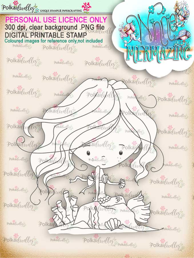 Winnie Mermaid Mermazing - Passing Time digi stamp download