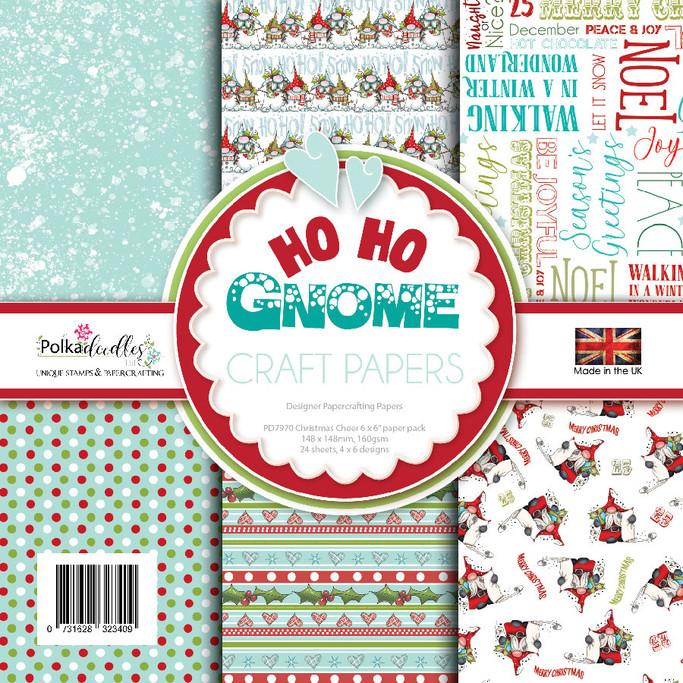 """Ho Ho Gnome Season 6 x 6"""" Paper pack"""