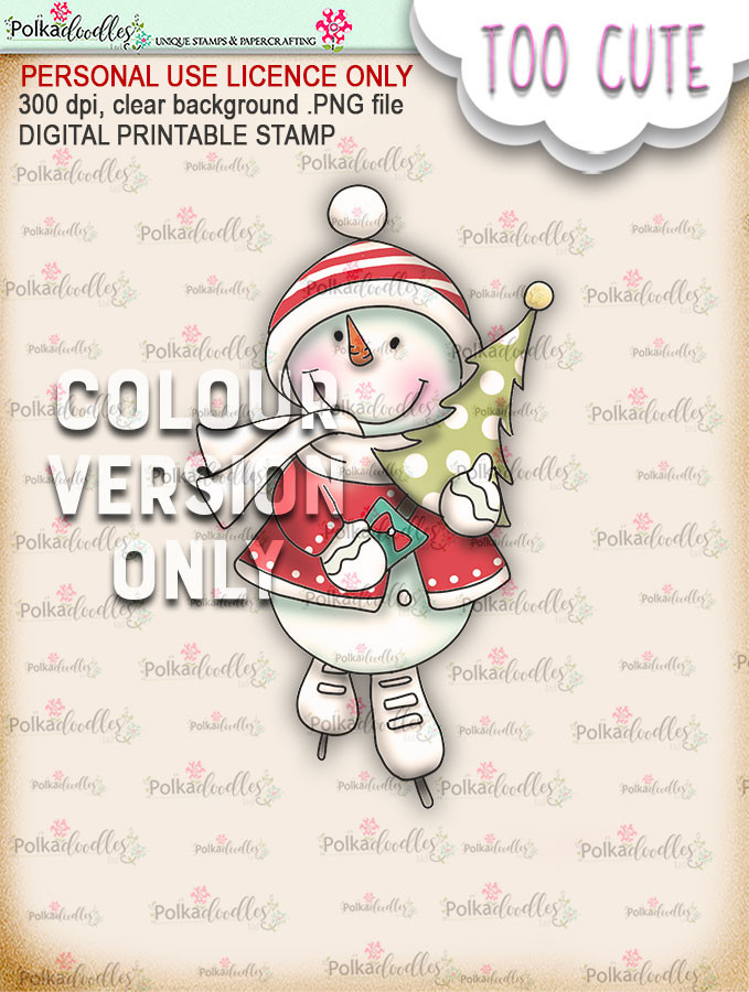 Frosty the Snowman Tree time PRECOLOURED - Too Cute digital papercrafting download