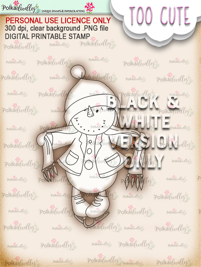 Frosty Wrap Up Warm - Too Cute digital papercrafting download