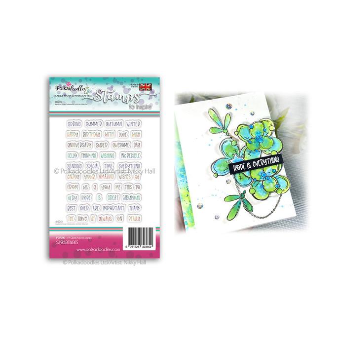 Super Sentiments - clear Polymer stamp set