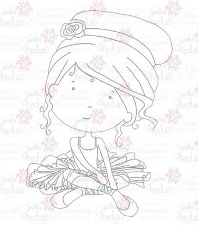 Ballerina digital stamp download