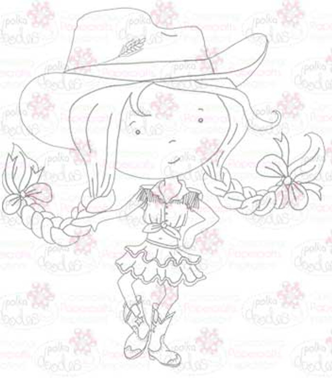 Cowgirl/line dance digital stamp download