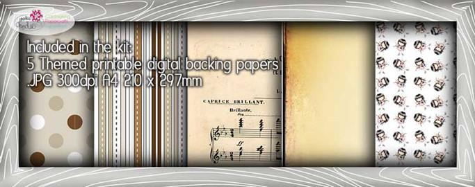 Violin Theme Paper Craft download