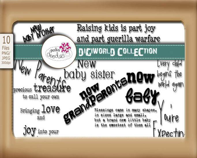 New Baby Sentiments Download Bundle