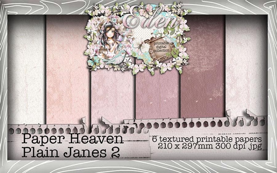 Eden Plain Jane 2 Digi Paper Collection