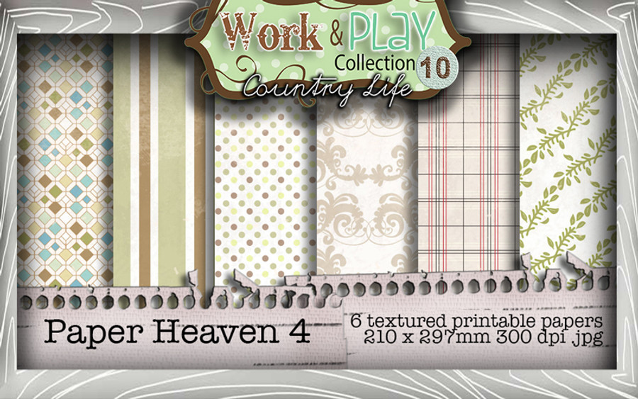 Work & Play 10 Collection - Paper Heaven 4 Digital Craft Download Bundle