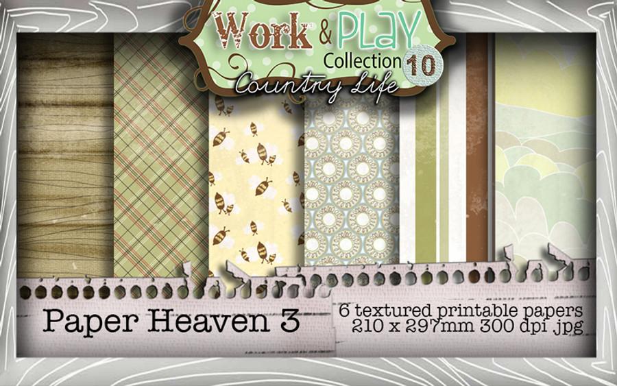 Work & Play 10 Collection - Paper Heaven 3 Digital Craft Download Bundle