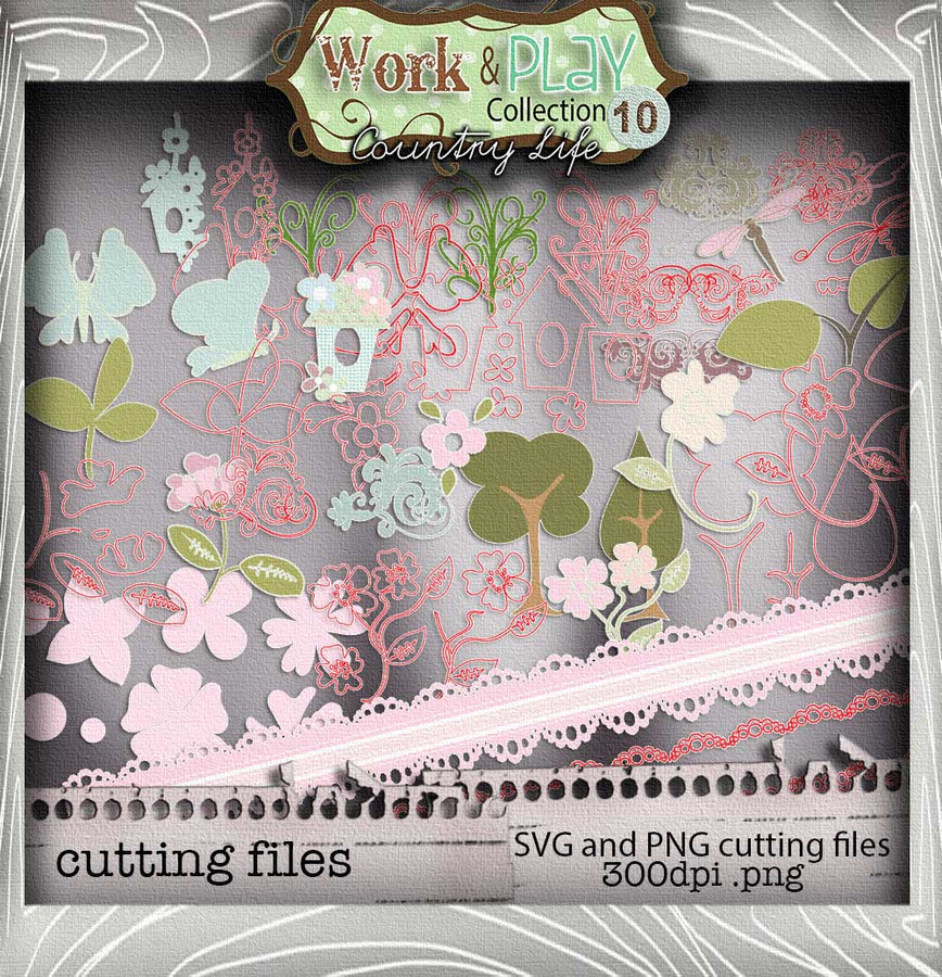 Work & Play 10 - Cutting Edges Digital Craft Download Bundle