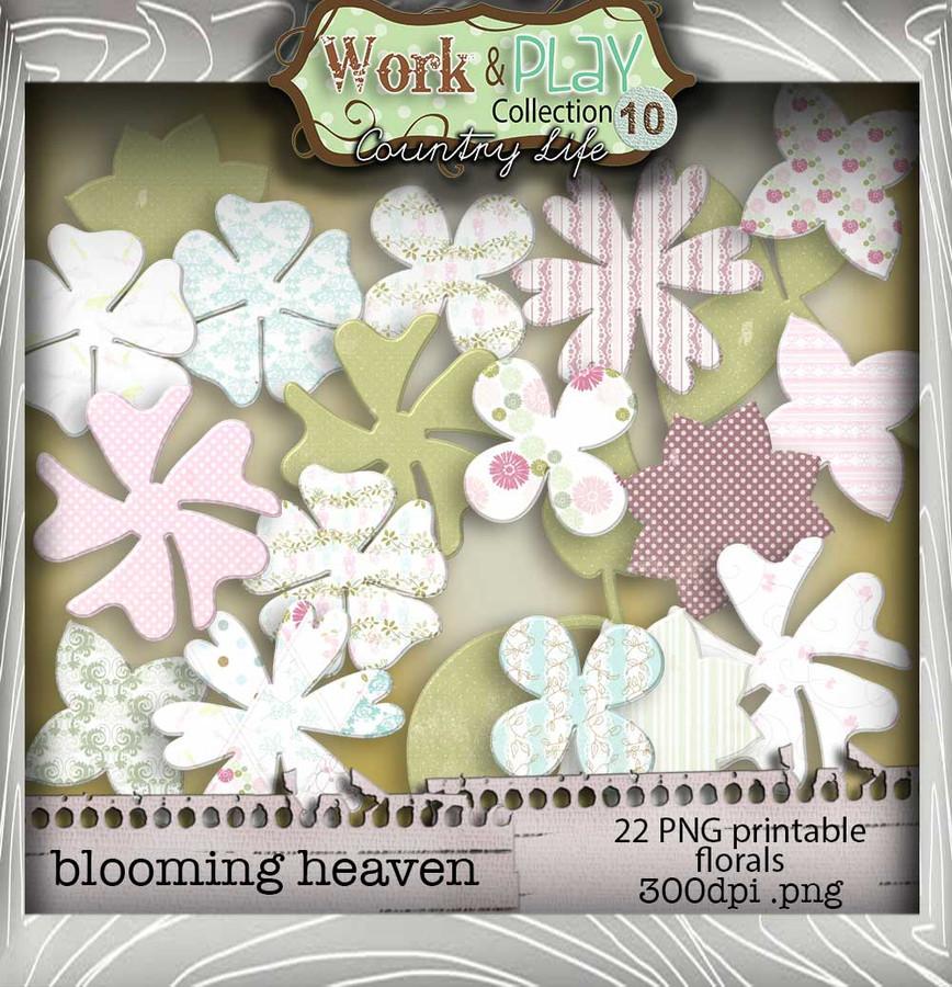 Work & play 10 - Blooming Heaven Digital Craft Download Bundle