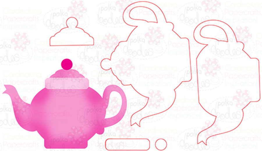 Teapot - Digital Cutting File download for Silhouette Cameo, Scan n Cut etc