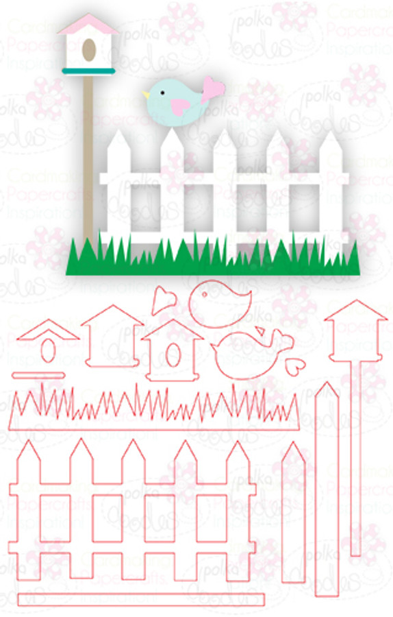Fence & Birdhouse - Digital Cutting File download for Silhouette Cameo, Scan n Cut etc