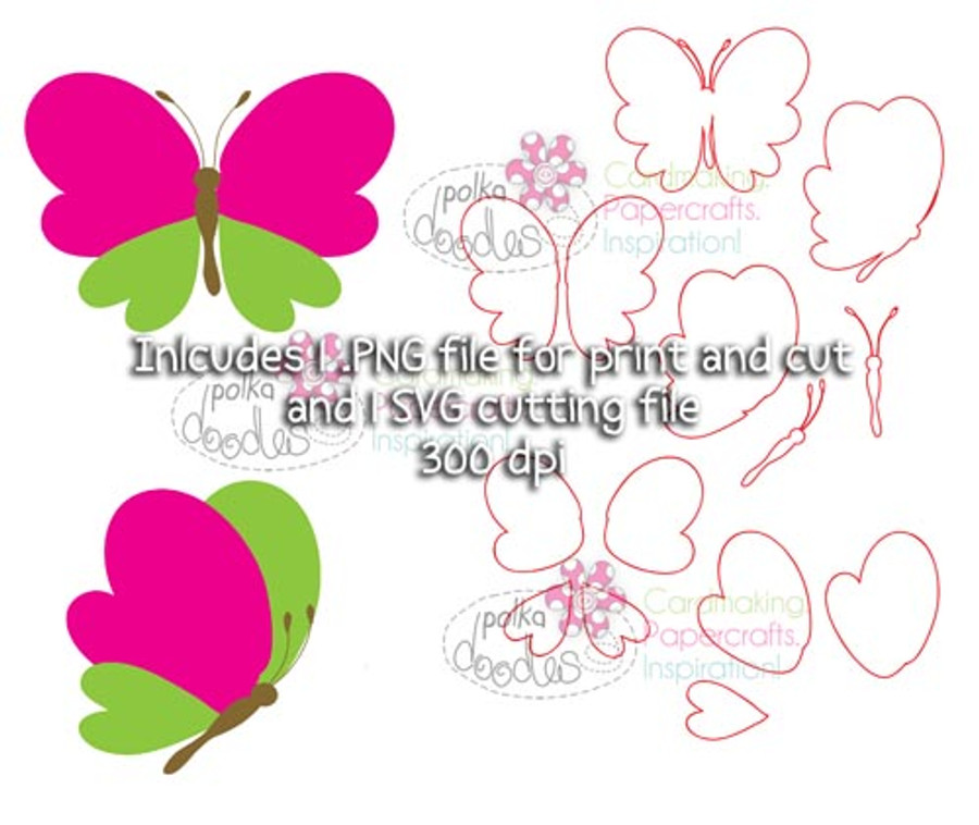 Butterfly SVG Cutting file - Digital Craft Download