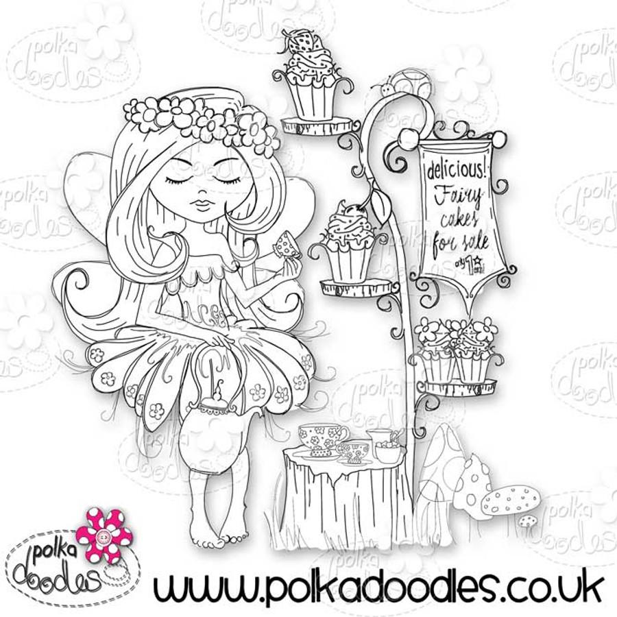 Serenity Fairy Cake - Digital Craft Stamp download