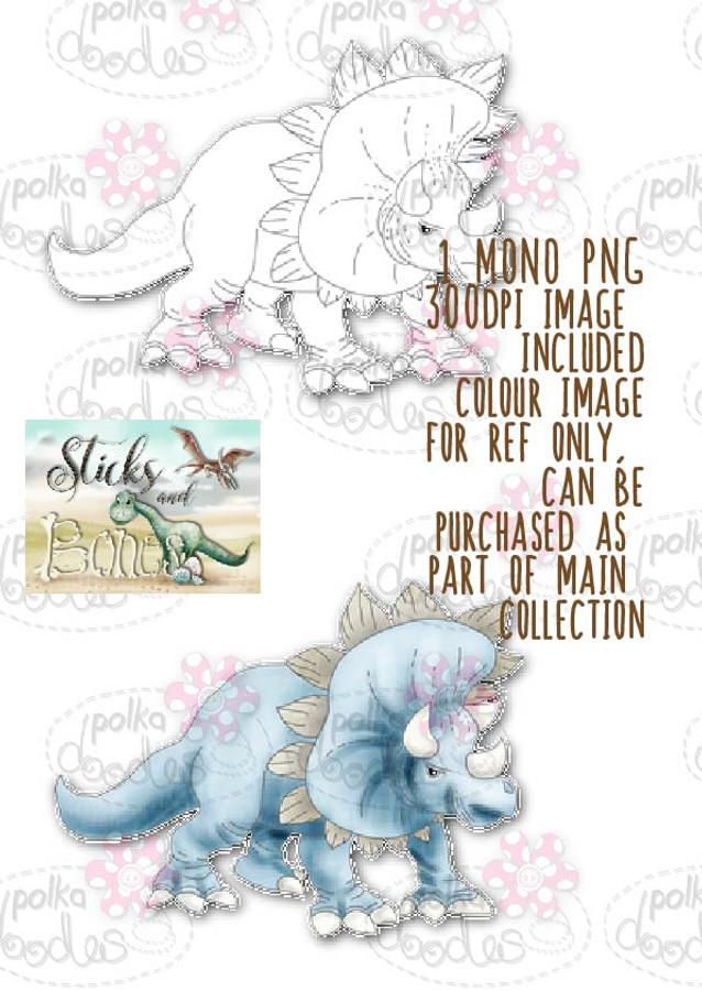 Sticks & Bones - Dinosaur  - Digital Stamp CRAFT Download