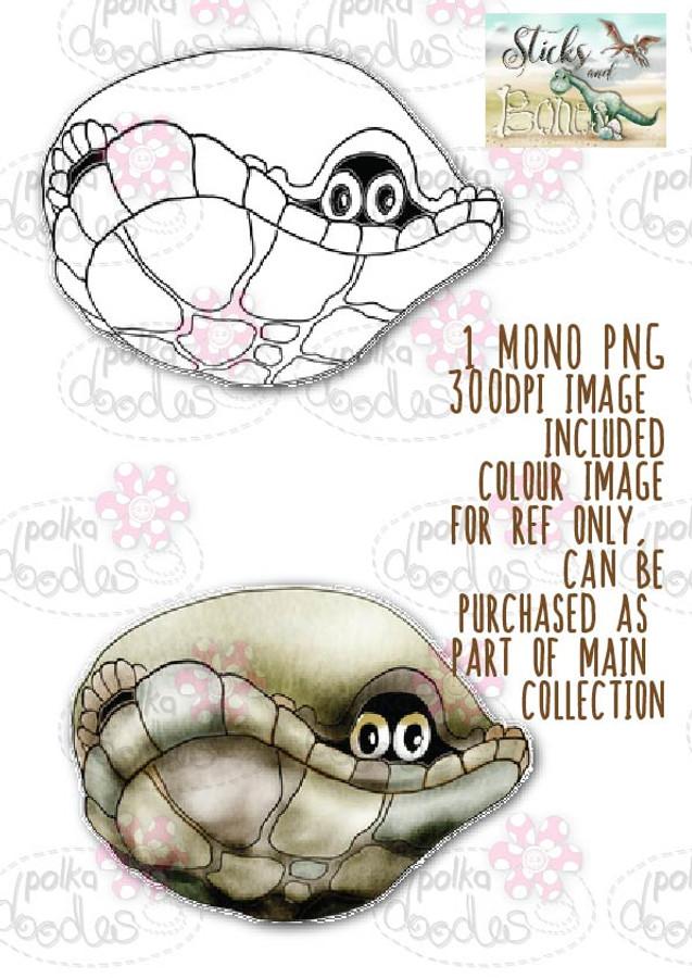 Sticks & Bones - Dinosaur Tortoise 3 - Digital Stamp CRAFT Download