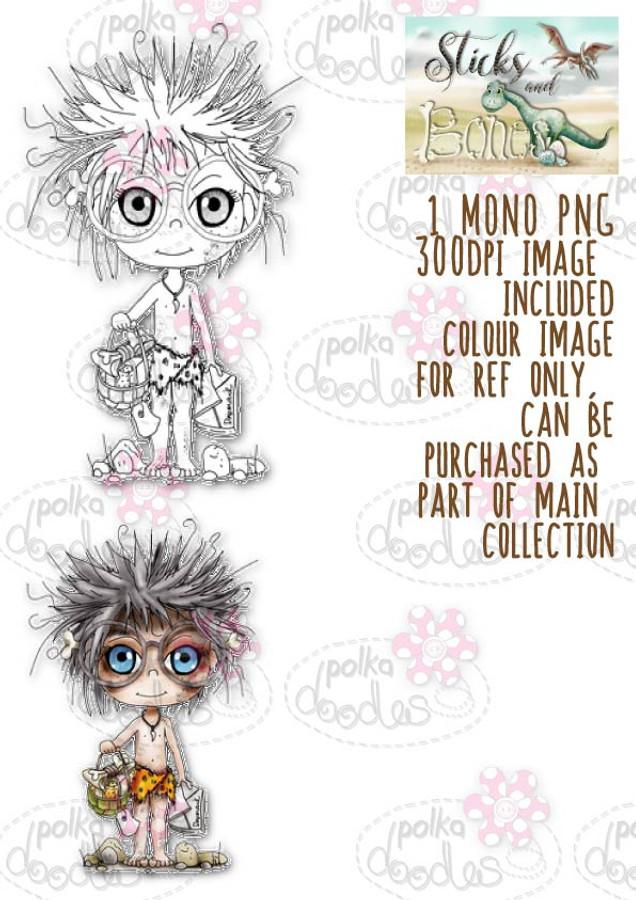 Sticks & Bones - Bearing Gifts/Dinosaur - Digital Stamp CRAFT Download