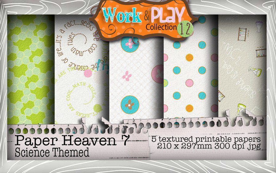 Work & Play 12 Paper Heaven7 bundle kit - science/geek (5 papers)
