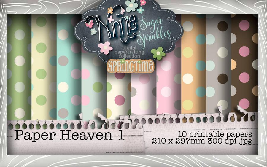 Winnie Sugar Sprinkles Paper Heaven 1 Bundle - Printable Crafting Digital Stamp Craft Scrapbooking Download