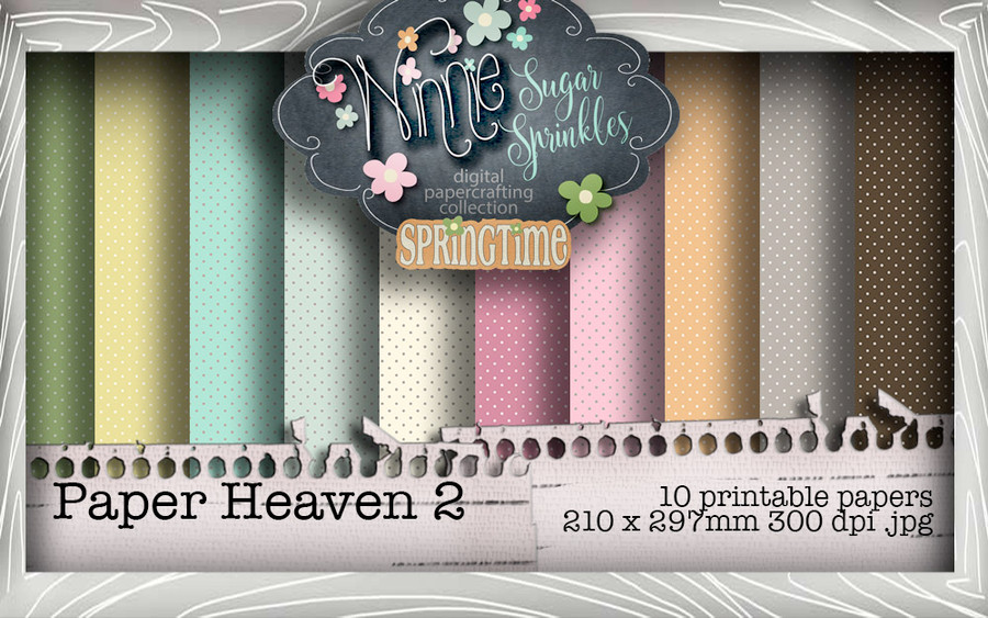 Winnie Sugar Sprinkles Paper Heaven 2 Bundle - Printable Crafting Digital Stamp Craft Scrapbooking Download