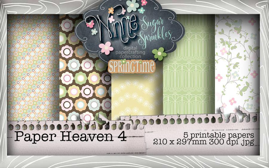 Winnie Sugar Sprinkles Paper Heaven 4 Bundle - Printable Crafting Digital Stamp Craft Scrapbooking Download