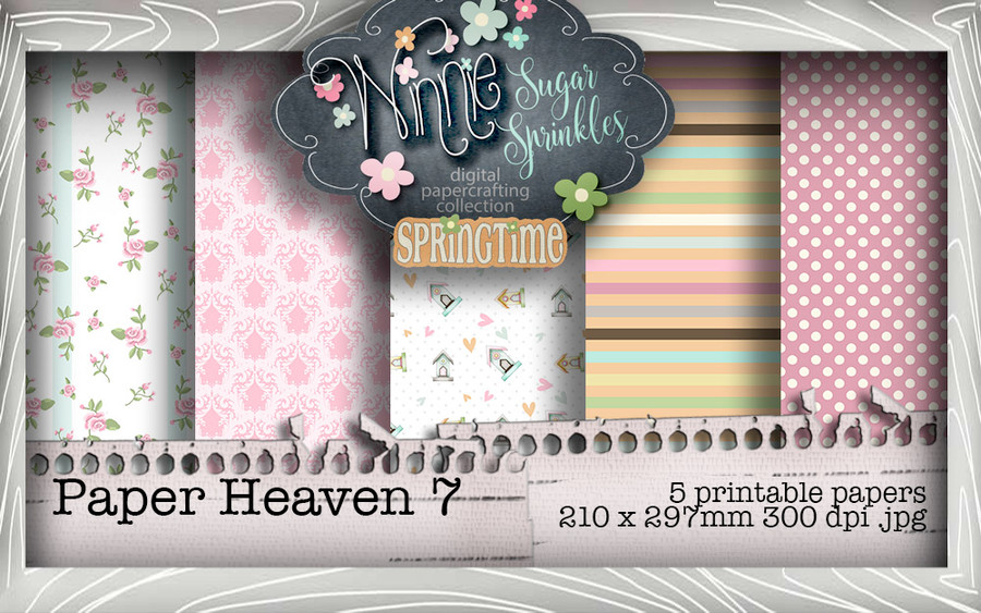 Winnie Sugar Sprinkles Paper Heaven 7 Bundle - Printable Crafting Digital Stamp Craft Scrapbooking Download