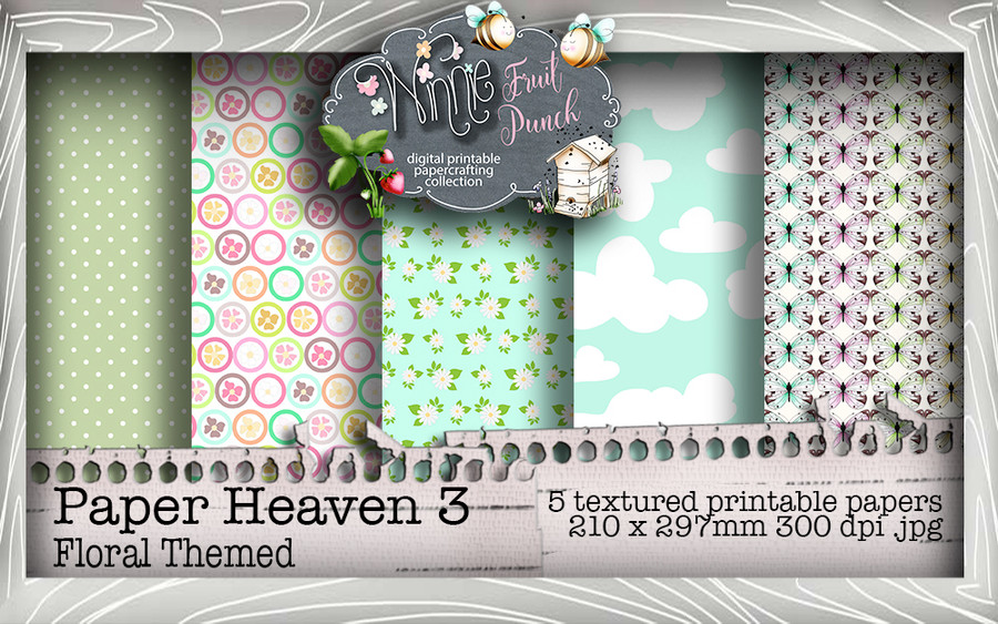 Winnie Fruit Punch Paper Heaven 3 Bundle - Printable Crafting Digital Stamp Craft Scrapbooking Download