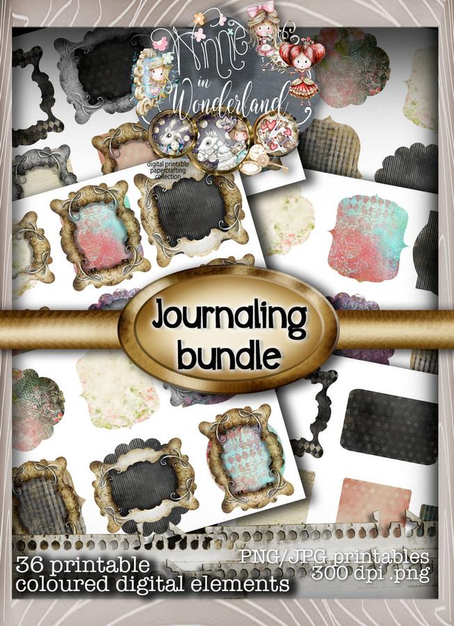 Winnie Wonderland Journal Tags - Printable Digital download
