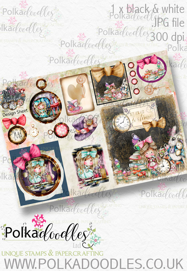Winnie Wonderland Design Sheet 1 - Printable Digital download