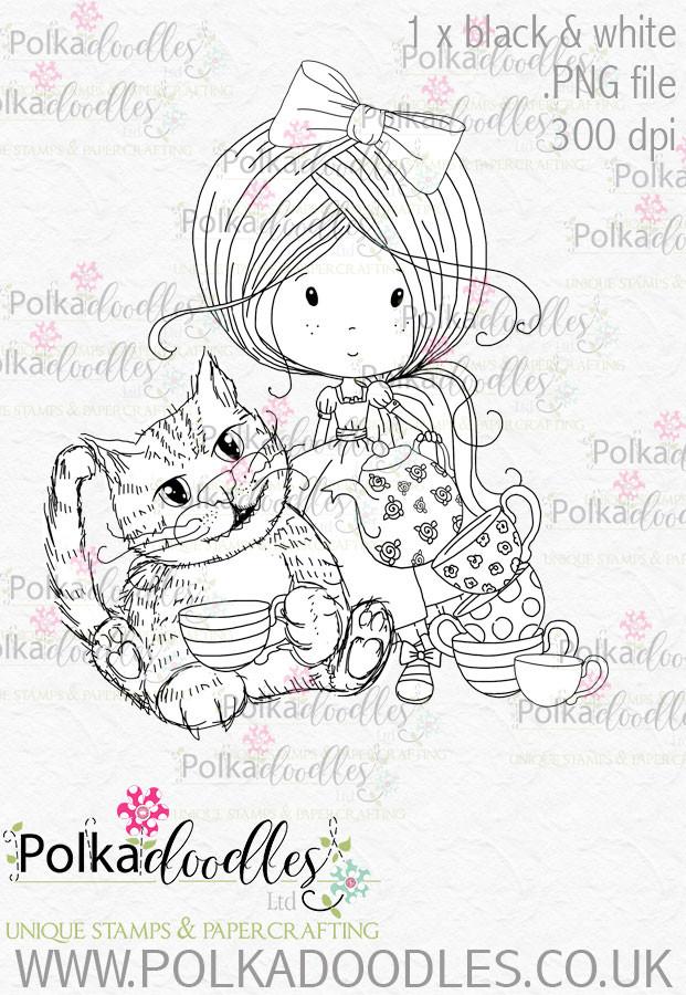 Winnie Wonderland Cheshire Cat - Printable Digital stamp download
