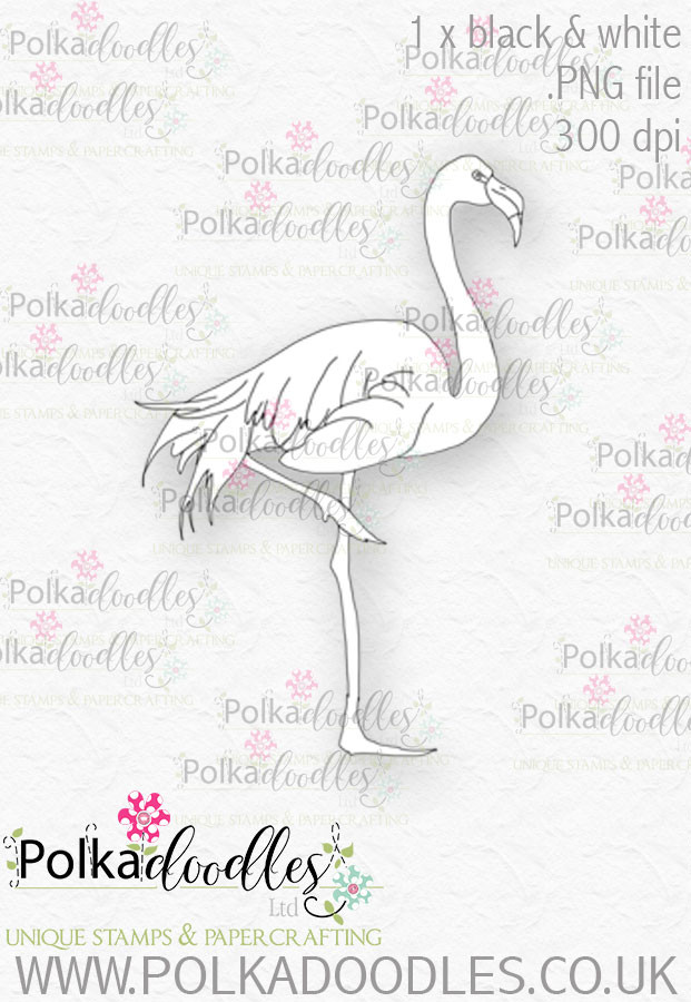 graphic about Flamingo Printable identify Winnie Wonderland Flamingo - Printable Electronic stamp down load