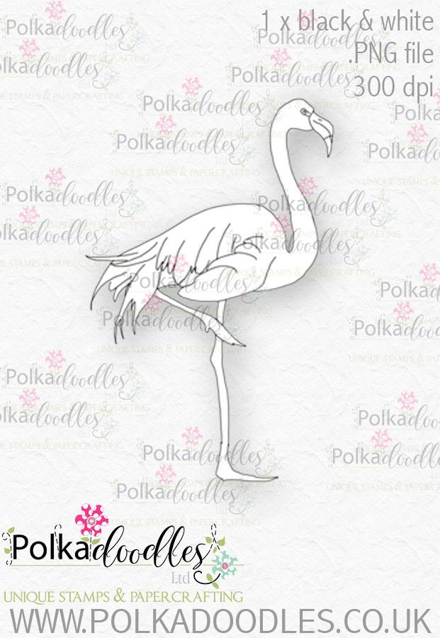 graphic about Flamingo Printable identify Winnie Wonderland Flamingo - Printable Electronic stamp down load