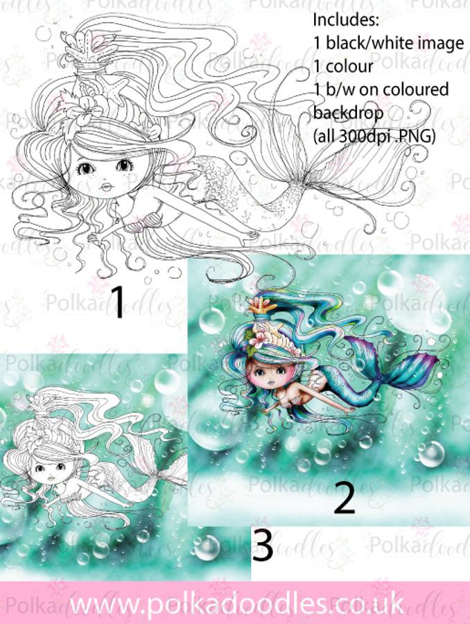 Meribelle Swimming around 3-for-2 digital craft stamp download