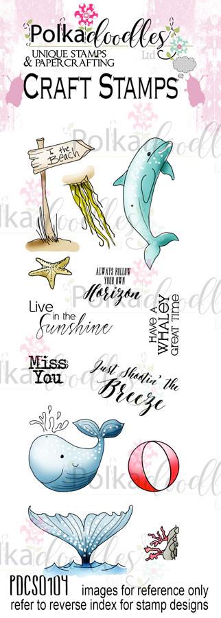Oceania/Beach/Nautical/Sea/Ocean Clear Stamp set