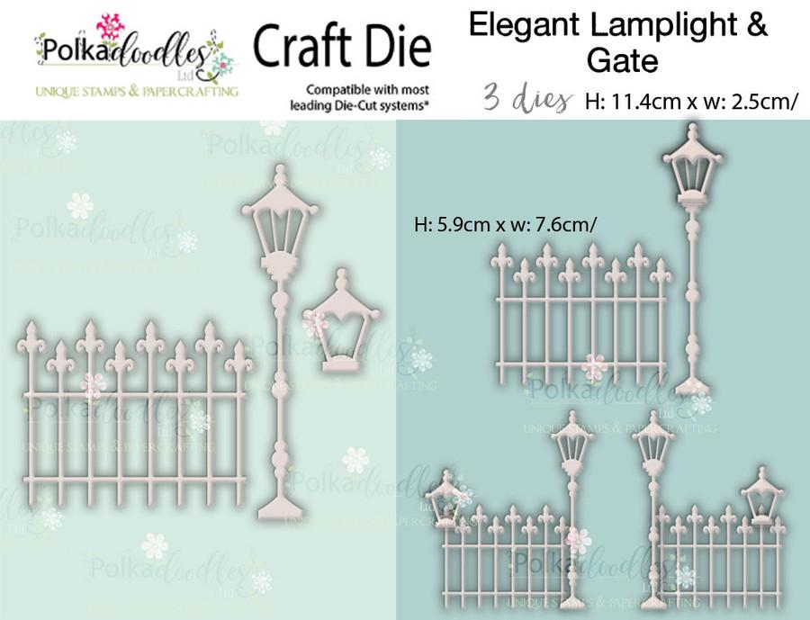 Elegant Lamplight & gate - Craft cutting die